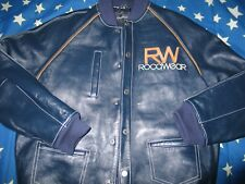 ROCAWEAR Blue leather jacket Men L New With out the tags