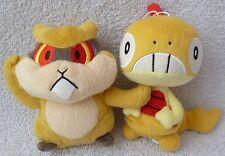 Official Banpresto Pokemon 2011 UFO Patrat & Scraggy Soft Plush Doll Toy Japan 6