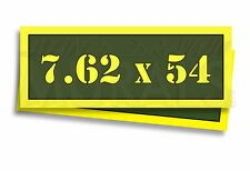 "7.62 x 54 Ammo Can Labels for Ammunition Case 3"" x 1"" stickers decals 2 PACK -AG"