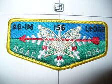 OA Ag Im Lodge 156,S-16, 1994 NOAC Flap,Hiawathaland Cncl,61,635 Kon Wapos,MI,WI