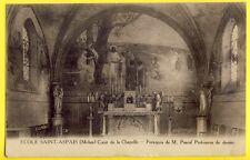 CPA Rare 77 MELUN École St Aspais CHAPELLE FRESQUES RELIGIEUSES Peinture Murale