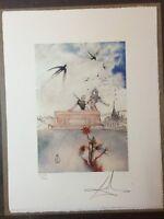 Salvador Dali Litografia 50 x 65 Bfk Rives Timbro a secco Firmata a Matita D2097