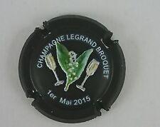 NOUVELLE capsule champagne LEGRAND BROQUET relief 1er mai fleur coupe2015 noir