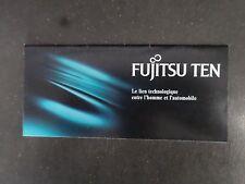 fujitsu ten . publicité