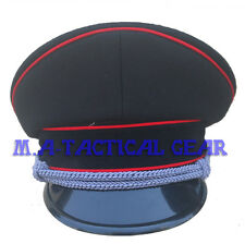 Reproduction WW2 German Officer Hat Red Pipe Wool Cap 57-60 CM