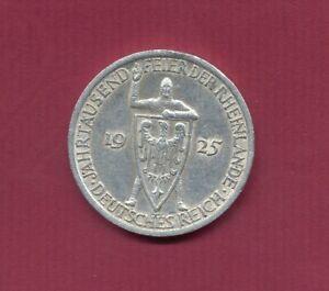 1925; D.Reich 3 Mark(Ag) Jahrtausendfeier Rheinlande Mi.42 HU2382 Präg.A vz+