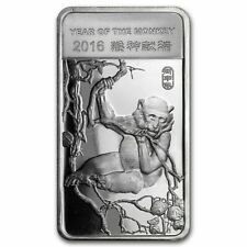 2016 1/2 oz .999 Silver Bar - Chinese China Lunar Calendar Year of the Monkey