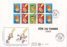 Enveloppe grand format 1er jour 2005 Fête du timbre Titeuf