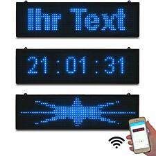 LED-Laufschrift klein 67x19 cm Blau programmierbar per Windows WiFi Wlan & App