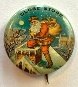 Santa Pinback Button Globe Store