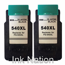 2x PG540XL Black Remanufactured Ink Cartridges For Canon PIXMA MG3650 Printers