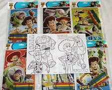 48 Toy Story 3 Disney Pixar Coloring Book & Crayon Set Child Party Bag Fillers