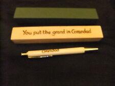 Personalised Grandad Penna a Sfera in Legno & Box-metti il GRAND in Grandad