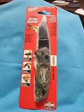 """Milwaukee 48-22-1535 Fastbackâ""""¢ Camouflage Spring Assisted Folding Knife"""