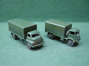 1950s Dinky Toys No 621 Bedford RL 3 Ton Army Wagon & 623 Bedford QL Army Wagon