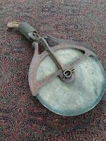 """Vintage/Antique Porcelain Industrial Barn Hudson Pulley  9 1/2"""" Diameter"""