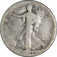 1921-D 50C WALKING LIBERTY HALF DOLLAR AG/G DETAILS CLEANED ENVIRO DMG 042521244