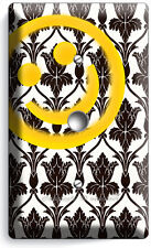 SHERLOCK HOLMES WALLPAPER HAPPY FACE PATTERN LIGHT DIMMER CABLE WALL COVER DECOR