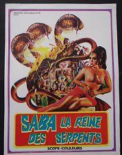 SABA LA REINE DES SERPENTS Snake girl / scenario pressbook film cinéma poster