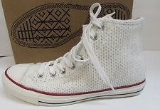 Converse Size 9 White Knit Hi Top Sneakers New Womens Shoes