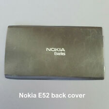 100% Genuine Nokia E52 Mobile Phone Back Battery Cover Fascia Housing - Silver
