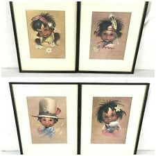 1940s Monteague Southwestern Prints 4 Professionally Framed Native American