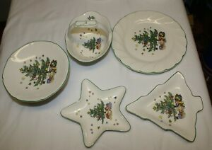 Nikko Christmastime Happy Holiday Dinner Plate Dish Cup Bowl Serving Tray Glass