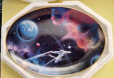 Star Trek Hamilton Collector Plate: SECOND STAR ON RIGHT, USS Enterprise COA New