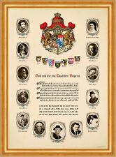 Bayernhymne Berühmte Personen mit Ihrem Wunschbild Faksimile im Goldrahmen