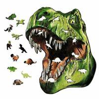 Wood Jigsaw Animal Dinosaur Jigsaw Puzzles Adult Kids Educational Puzzle Gift *