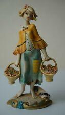 Vintage Figurine Girl Lady By Simonelli Artwork Original Interior Great Quality