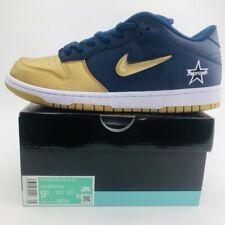 New Nike SB Dunk Low OG QS DS Supreme Navy Metallic Gold Men Size 9.5 CK3480-700