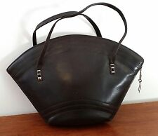 CHOCOLATE BROWN Faux Vegan Leather Bucket Shape Small HANDBAG Lots of Pouches