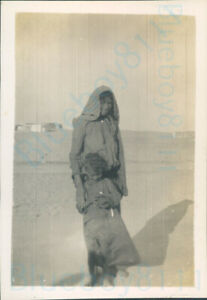 """British Army Egypt 1936 Local Mother and daughter 3.5*2.5"""" Original"""