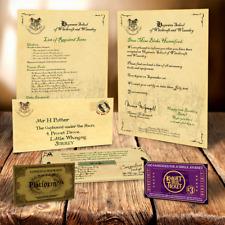 Harry Potter personalisiert Hogwarts zulassungsschreiben mit EXPRESS Ticket R