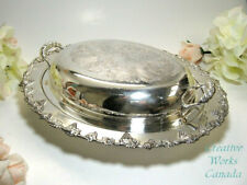 Wm A Rogers Silver Plated Vegetable Lidded Tureen Canada With Embossed Grape