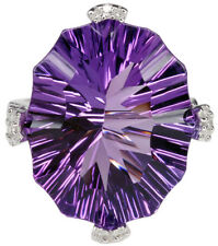 Cocktail Natural Amethyst Fine Rings