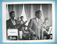 FENDER GUITAR LOU RAWLS, VIC GASKIN with CANNONBALL ADDERLEY 1968 PROMO PHOTOS