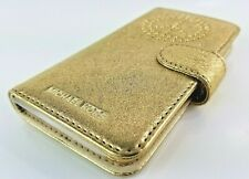 Michael Kors Electronic Novelty Folio I phone Case 7 Gold Leather