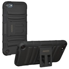 AMZER Hybrid Kickstand Case - Black/ Black For iPod Touch 6th Gen 5th Gen