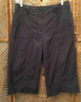 Talbots Womens Walking Shorts Petites Size 12P Gray Knee Length Cotton Stretch