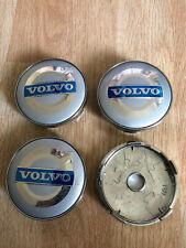 4x Volvo Wheel Centre Cap Alloy Hub New Set Of 4 Centre Caps 60mm Silver/Blue