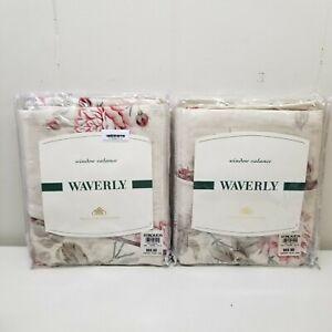 2 Waverly Ambridge Rose Antique Winchester Valance 18x106 Shabby Chic Farmhouse