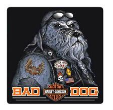 Harley-Davidson® Bar & Shield Bad Dog Embossed Tin Wall Sign (14.5x14.5) 2011791