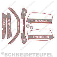 KREIDLER 80 L AUFKLEBER KOMPLETTSET SILBER NEU - 30576