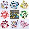 12 X 3D Calcomanía Mariposas coloridas pegatinas de pared decoración hogar