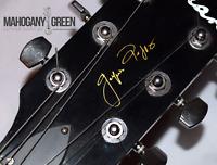 Custom Guitar Headstock Decal Signature Logo Vinyl Stickers, 5 Stickers per pack