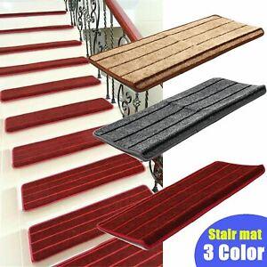 Non Slip Skid Self Adhesive Stair Tread Carpet Staircase Step Mat Rug Cover Pad