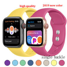 38mm-44mm Silicone Sports Apple Watch Band Strap for iWatch Series SE 6 5 4 3 2