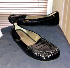 Me Too Susan - Womens Black Synthetic Patent Leather Penny Loafers Sz US 9.5